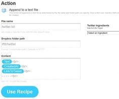 Guardar, automáticamente, los tweets en Dropbox con formato txt.