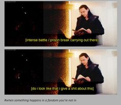 I bet he had so much fun acting that scene!:
