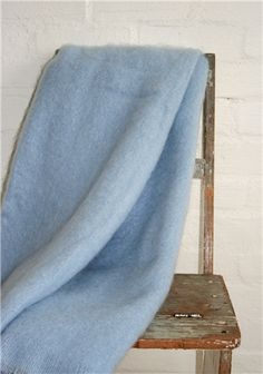 Mohair Mill Shop | Mohair Blankets | Clear Blue Skies Mohair Throw