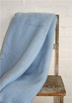 Mohair Mill Shop | Mohair Blankets | Clear Blue Skies Mohair Throw