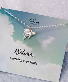 Another great find on #zulily! Sterling Silver Flying Pig Pendant Necklace & Message Card #zulilyfinds