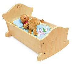 Have To Have It Little Colorado Wooden Doll Cradle 39