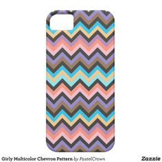 Girly Multicolor Chevron Pattern iPhone 5 Cases #iphone #iphonecase #iphonecover