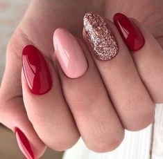 How to utilize nail polish? Nail polish in your friend's nails looks perfect, however you can't apply nail polish as you wish? You will get rid of nail pol Red Gel Nails, Pink Nail Art, Cute Acrylic Nails, Cute Nails, Pretty Nails, Red Glitter Nails, Acrylic Art, Green Nails, Nails Inc