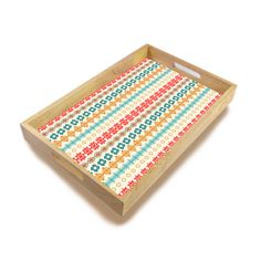 Tribal Pattern Decorative Wooden Tray Home Serving by WeekendDecor