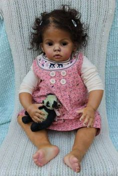 """~*Resell*~ Reborn Doll Big Baby Girl Ethnic Black 31"""" Toddler By Katie Messou   eBay"""
