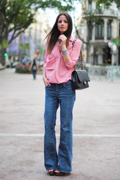 I love flared jeans <3 almost impossible to find them lately :(