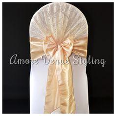 #wedding #sash #hood #lace #ivory #taffeta #champagne