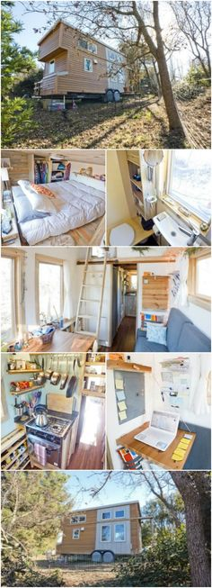 "This is What a Tiny House Looks Like After It's Been Lived In! Alek Lisefski is the creator behind ""The Tiny Project"" which has the goal of educating others on how to live tiny and simply. He built his own tiny house and has lived in it full-time with his girlfriend and dog since 2013."