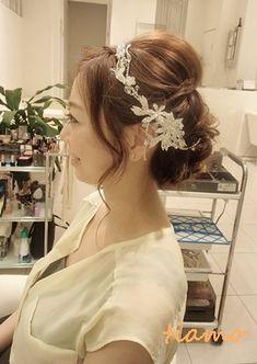 和装に合うシニヨン&ドレスに合うゆるアップ♪リハ編の画像 | 大人可愛いブライダルヘアメイク『tiamo』の結婚カタログ