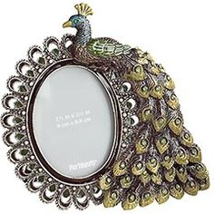 Pier 1 Jeweled Peacock Desk Frame