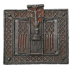 French Gothic lock in wrought and openworked iron, late15th Century. 16.5 X 18 cm.