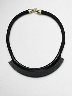 orly genger enamel and rope mini bib necklace.