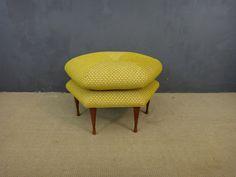 Reupholstered Hexagonal Ottoman