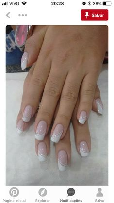 French Nails - French Nail Tip Ideas, French Nail Polish, French Tip Nail Designs French Manicure Nails, French Tip Nails, Nail French, Bridal Nails French, Gel Manicures, French Beauty, Nails Factory, Bridal Nails Designs, Wedding Nails Design