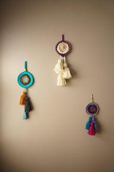 Woven Wall Hanging / Talisman Weaving / Boho Home by LemonCucullu