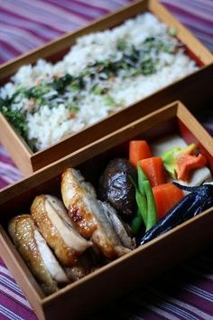 Japanese box lunch, Bento お弁当. Because it doesn't have to be all childish. This is a grown up version.
