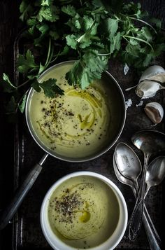 This Zucchini Soup is dairy-free and tastes so good, it's hard to believe it's actually good for you. It's a perfect lunch or dinner during the cold winter months. | upcloseandtasty.com | dairy-free | easy | healthy | vitamix