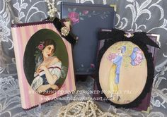 My charming hand painted and decorated photo albums Available at www.romanticdecorativeart.co.uk
