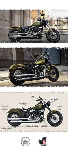 It packs all the punch of our legendary heritage with today's top technology and performance. | 2016 Harley-Davidson Softail Slim #harleydavidsonchopperscustombobber #harleydavidsonsoftail