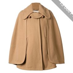 Chloe Wool Cape Coat