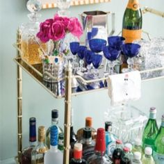 The bar cart...let the drinking begin!