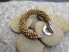 GOLDEN DRAGON SCALE KUMIHIMO BRAIDED BRACELET