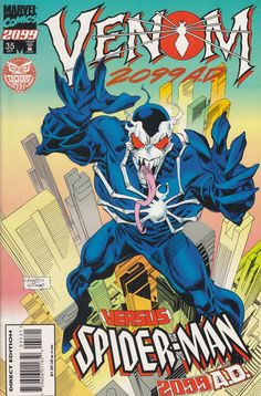Find the value of the Marvel comic Spider-Man 2099 volume What is your Spider-Man 2099 comic book worth? Marvel 2099, Marvel 3, Disney Marvel, Marvel Heroes, Marvel Universe, Free Comic Books, Comic Book Covers, Comic Books Art, Venom Art