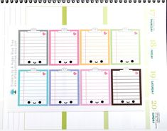 This sticker set features a sheet of happy clipboard full box tracker/reminder planner stickers. Use these stickers in your planner or calendar to decorate and keep track of your work projects, school assignments, to do lists, etc...   Each sticker sheet is made to order. They are kiss cut on matte paper and are non-removable. Slight variances may occur in cutting and printing. Colors may vary slightly unless we are both using the same monitor. Shipping and Handling  Most of our items ar...