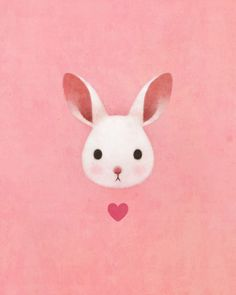 Cute lovely pink rabbit drawing art iphone 8 plus wallpaper. Bunny Art, Cute Bunny, Bunny Rabbit, Bunny Pics, Kawaii Bunny, Bunny Images, Rabbit Hole, Art And Illustration, Love Heart Illustration