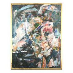 J. Pawlan Mixed Media Abstract Painting on Chairish.com