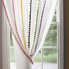 Hem and Her: DIY No Sew Pom Pom Curtains