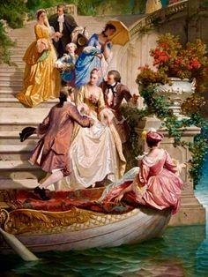 Ideas for painting portrait victorian Romantic Paintings, Classic Paintings, Old Paintings, Beautiful Paintings, Renaissance Kunst, Renaissance Paintings, Victorian Paintings, Victorian Art, Art Ancien