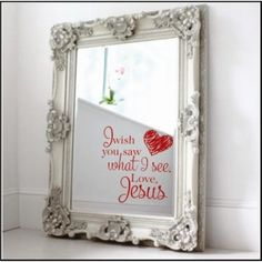 I Wish You Saw What I See Mirror Or Wall Decal | Bathrooms and Laundry Rooms Christian Wall Decals