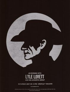 Lyle Lovett Concert Poster by Dirk Fowler (SOLD OUT)