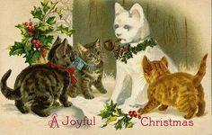 de jolies cartes de Noël vintage... pour le scrap, la carterie, le home déco... http://wordplay.hubpages.com/hub/animal-christmas-cards