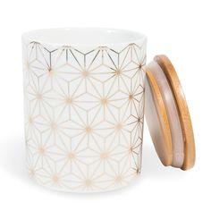 Pot en porcelaine blanc/doré CELESTE