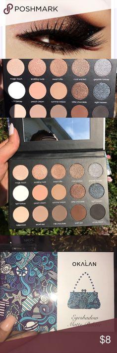 Okalan 15 Color Eyeshadow Matte Shimmer Okalan 15 Color Eyeshadow Matte Shimmer Palette With Mirror Powder Okalan Makeup Eyeshadow