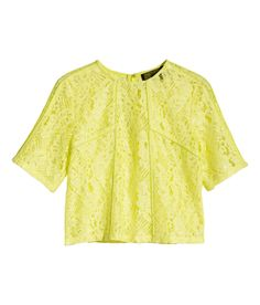 Go for a megawatt look with a neon yellow lace top. | Party in H&M