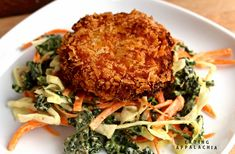 BUTTERNUT CHICKPEA FRITTERS WITH KALE WINTER SLAW