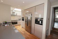 Gloss laminate Cashmere kitchen furniture