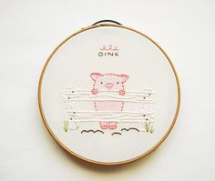 This little piggy didnt go shopping or eat roast beef or cry wee, wee, wee. Instead, this little piggy waited happily for you to stitch him up sweetly!
