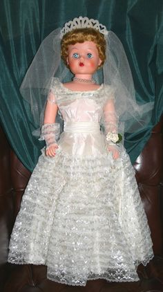 Betty the Beautiful Bride Deluxe Grocery Store Doll 1957 All Original with Box. $399.00, via Etsy.