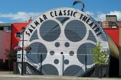 The Salmar Classic Movie Theatre Salmon Arm Britsh Columbia - Canada. the first non-profit, community owned movie theatre in Canada Bc Home, Unusual Buildings, Theatres, Movie Theater, British Columbia, Salmon, The Neighbourhood, Whimsical, Fair Grounds