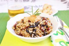 Paella ecológica de verduras con allioli de pimentón de la Vera  http://www.thespanishfood.es/2012/10/paella-ecologica-de-verduras-y-allioli.html