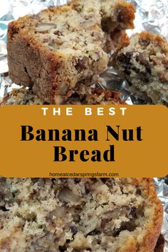 This is the only recipe you will need for Banana Nut Bread It s that good So easy to make and tastes amazing Sugar shortening eggs bananas flour baking soda baking powder salt and pecans Easy Bread Recipes, Banana Bread Recipes, Gourmet Recipes, Best Ever Banana Nut Bread Recipe, Banana Bread Recipe With Walnuts And Chocolate Chips, Taste Of Home Banana Bread Recipe, Banana Bread Recipe With Shortening, Banana Bread Recipe With Baking Powder, Easy Banana Cake Recipe