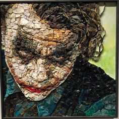 Mosaic Portrait, Portraits, Mosaic Wall, Art Forms, Stained Glass, Fairy Tales, Art Drawings, Joker, Fantasy