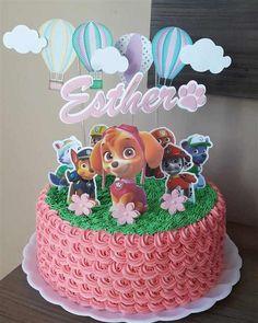 Paw Patrol Birthday Cake, Paw Patrol Party, Bolo Do Paw Patrol, Butterfly Birthday Cakes, Twin Birthday, Character Cakes, Party Cakes, Cake Toppers, Cake Decorating