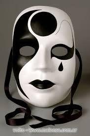 Resultado de imagem para mascaras de yeso de blanco y negro