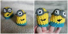 Minion Finger Puppets free crochet pattern - 10 Free Crochet Finger Puppet Patterns